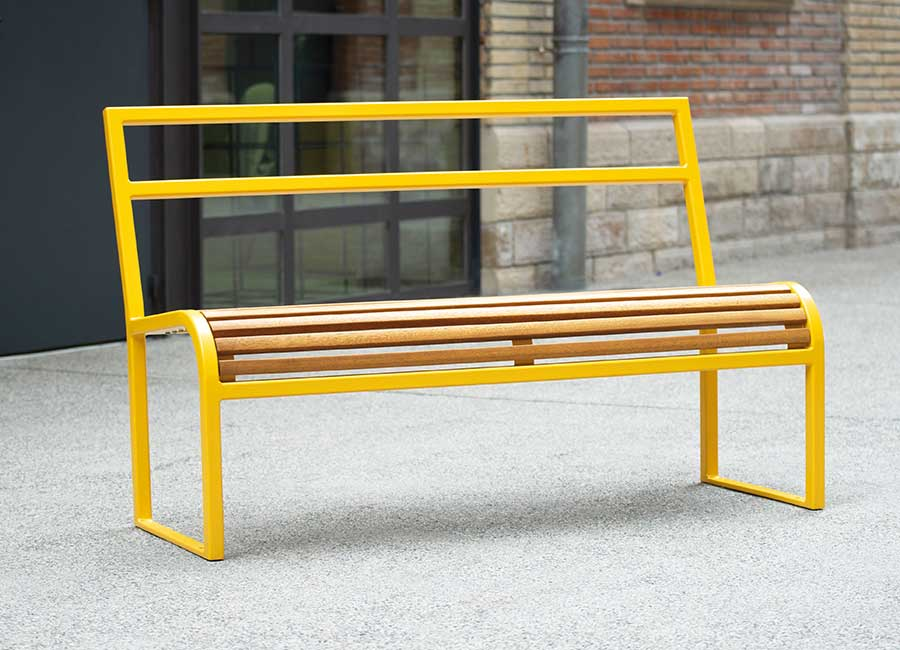 Bench with backrest - Antibes bois