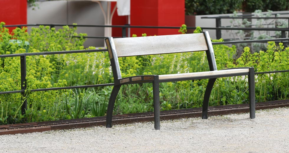 Area - Bench with backrest - Athéna