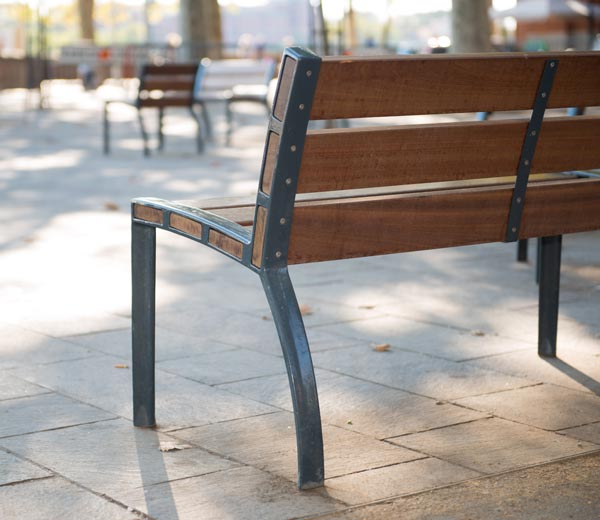 Area - Bench with backrest - Athènes