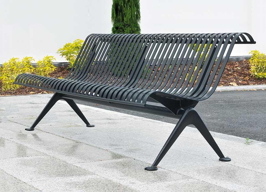 Bench with backrest - Lisbonne