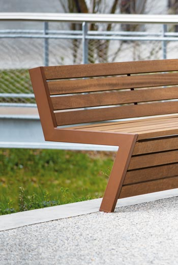 Area - Bench with backrest - Mongenèvre