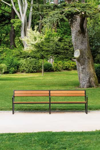 Area - Bench with backrest - Prague B110