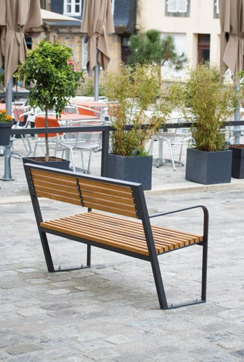 Area - Bench with backrest - Prague B30