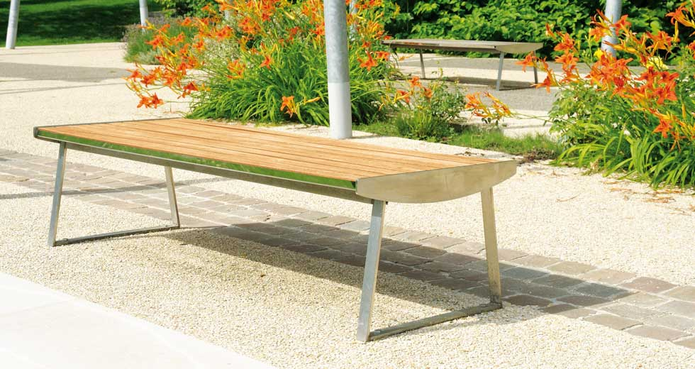 Area - Backless bench - Orlando inox