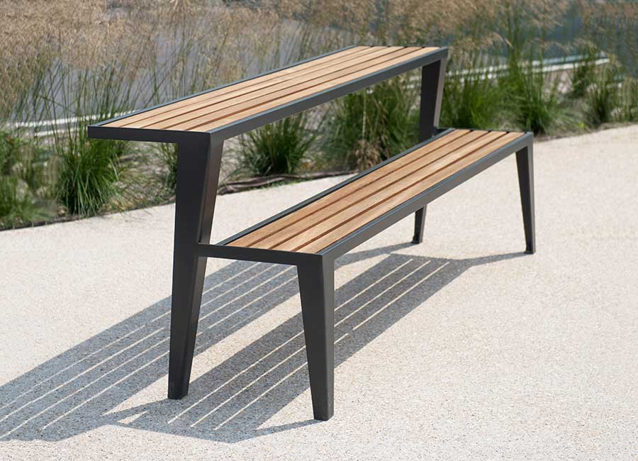 Chicago Bois Table Bench Area Street Furniture