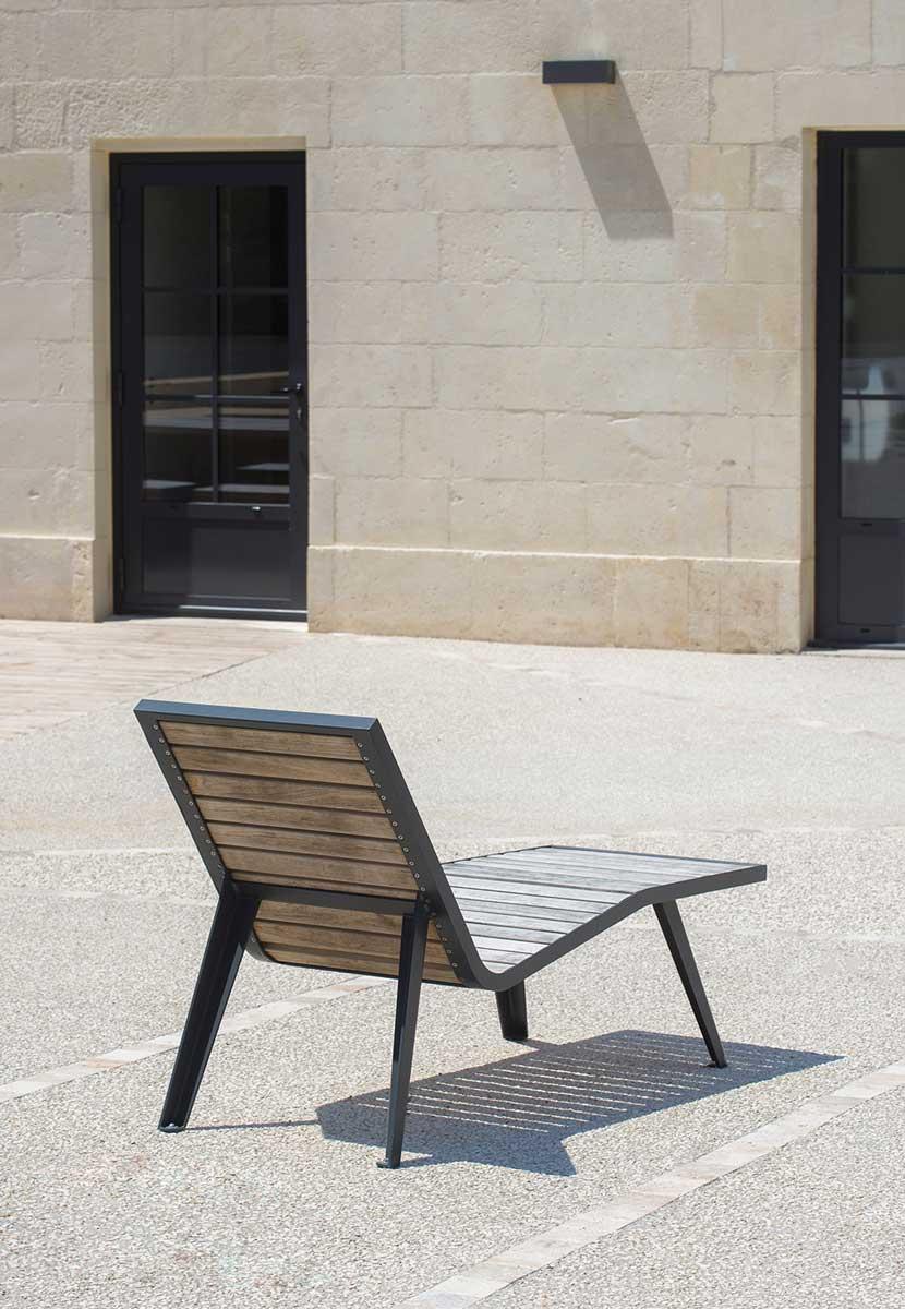 Michigan Bois Chaise Longue Ar 233 A Street Furniture
