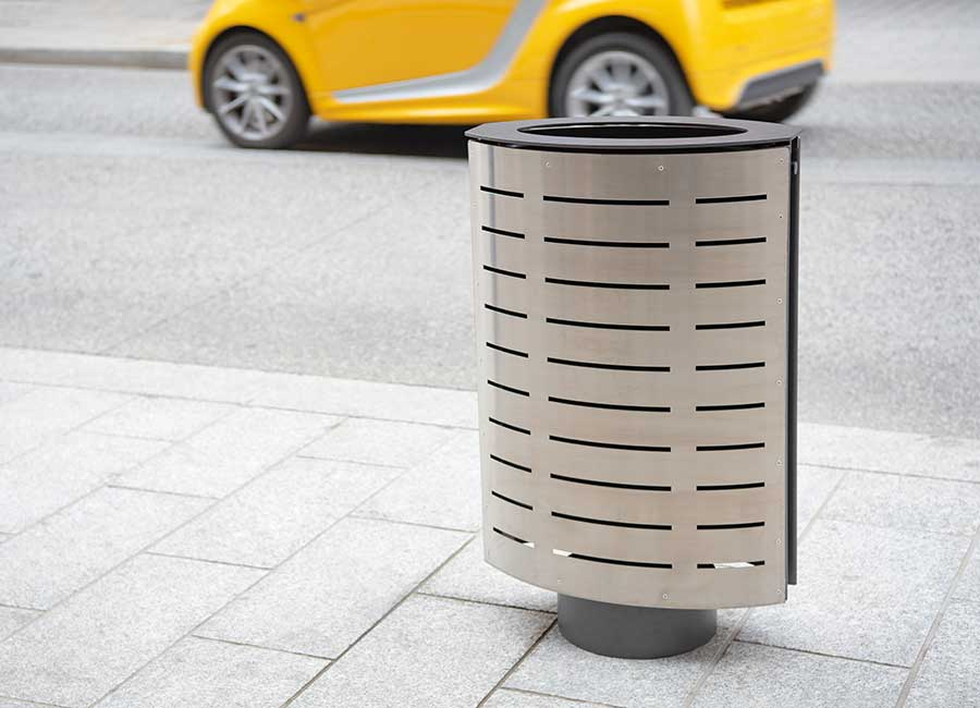 Litter receptacle - Marguerite inox