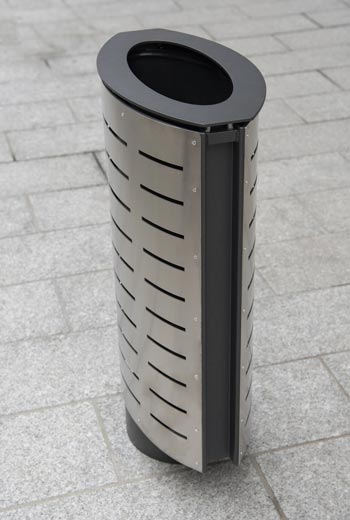 Area - Litter receptacle - Marguerite inox