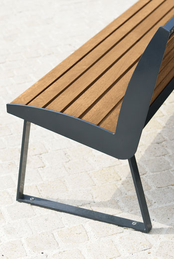 Area - Bench with backrest - Miami