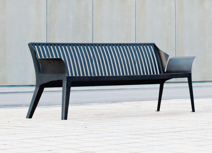 Bench with backrest - Vancouver