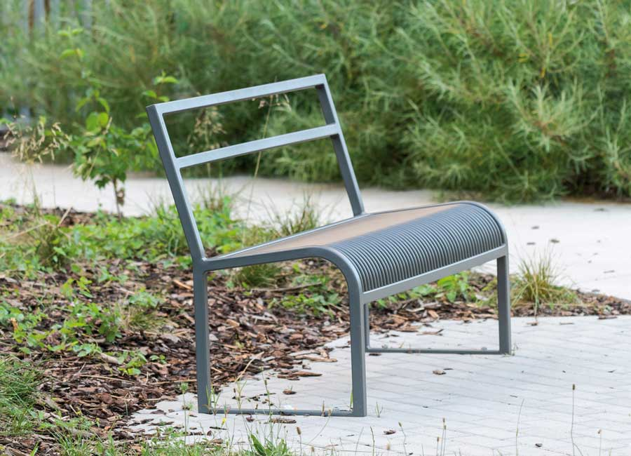 Bench with backrest - Antibes
