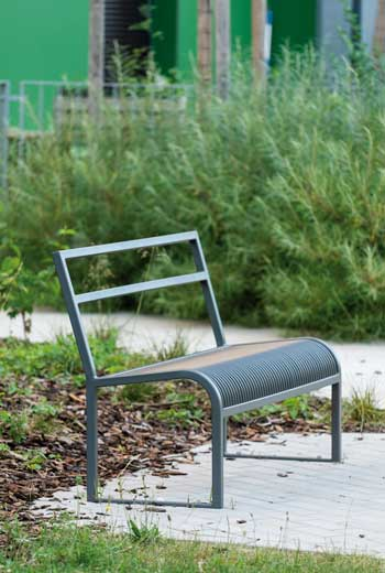 Area - Bench with backrest - Antibes